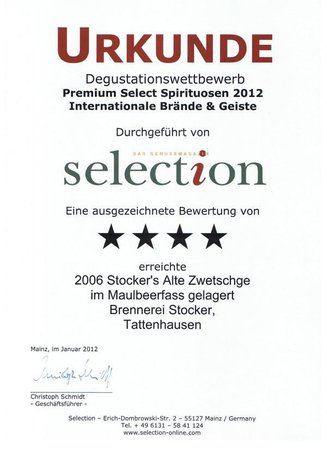 2012 Selection Alte Zwetschge Gold\\n\\n07.01.2013 20:17
