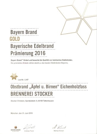 2016 Alter Obstbrand Gold\\n\\n02.06.2016 17:27